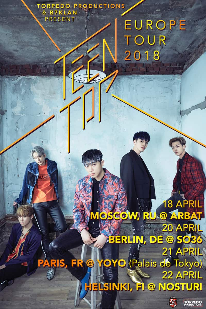 TEEN TOP EU Tour 2018