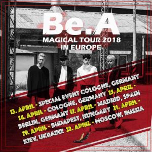 Be.A Europe tour 2018