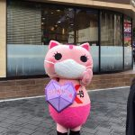 Koronon, anti-koronavirusna mačja maskota v Tokyu